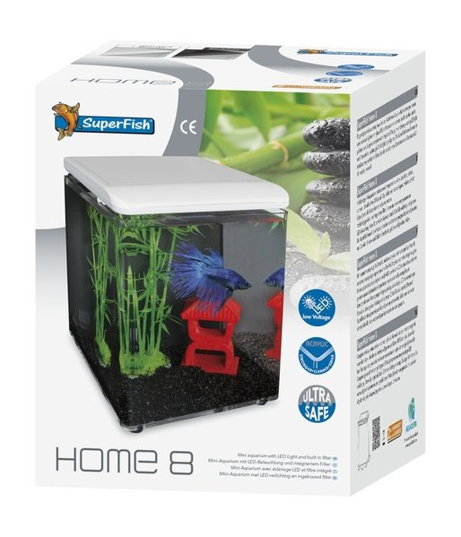 superfish home 8 aquarium weiss aqua lorenz aquaristikbedarf im ruhrgebiet. Black Bedroom Furniture Sets. Home Design Ideas
